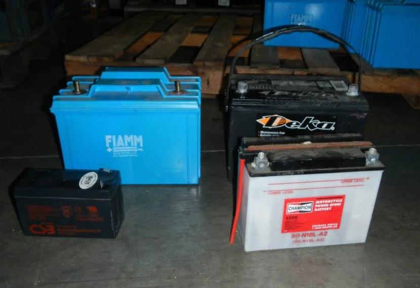 scrap auto batteries